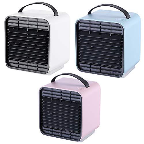 Everpert Equation Ventilador, Ventiladores de Enfriamiento USB del Refrigerador de Aire, Ventilador de Ión Negativo de la Oficina Portátil de Mano (Blanco)