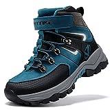 Stivali da Escursionismo Ragazzi Stivali da Neve per Bambini Ragazze Scrape da Escursionismo,blu navy,39 EU