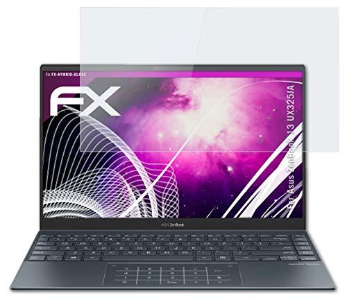atFolix Glasfolie kompatibel mit Asus ZenBook 13 UX325JA Panzerfolie, 9H Hybrid-Glass FX Schutzpanzer Folie