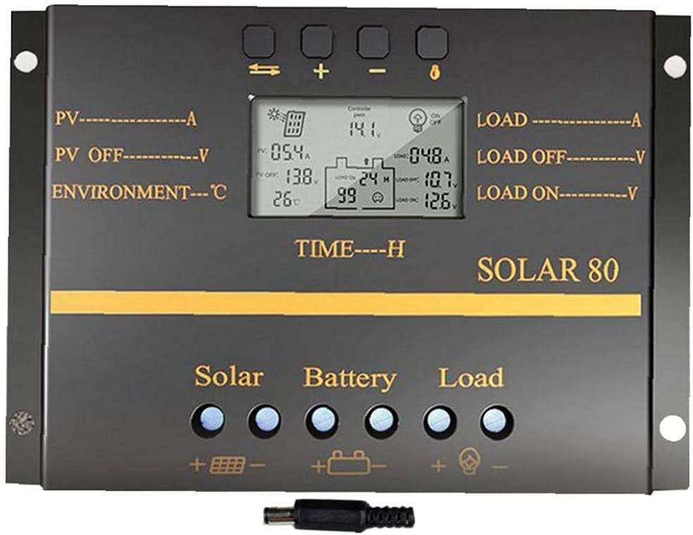 Solar Charge Controller Regulator 12V 80A New Shipping Free Shipping Black 24V specialty shop Intelligent