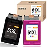 INKNI Remanufactured Ink Cartridge Replacement for HP 61XL 61 XL for HP Envy 4500 5530 5534 5535 Deskjet 1000 1010 1510 1512 2540 3050 3510 3050A Officejet 2620 4630 4635(1 Black, 1 Tri-Color, 2-Pack)