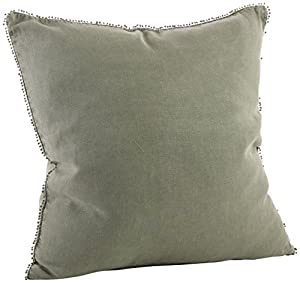 "Size: 20"" Square Solid on both sides Fiber: 100% linen + Care: cool machine wash, dry clean recommended, cool iron A decorative pillow not only looks good, but it's perfect to rest your head on a lazy day. This toss pillow is well-made, nicely design..."