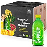 Kloster Kitchen Bio Shot+ Fruit Ingwer-Zitrone 9 x 330 ml I Veganes, erfrischend stilles Soft Getränk aus Ingwer Shot & Fruchtsaft I 100% natürliche Bio Zutaten ohne Zusätze in der Glasflasche