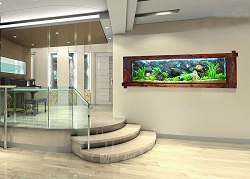 Wandaquarium- Dark Wood 160, Panorama Aquarium – Wall Aquarium - 5