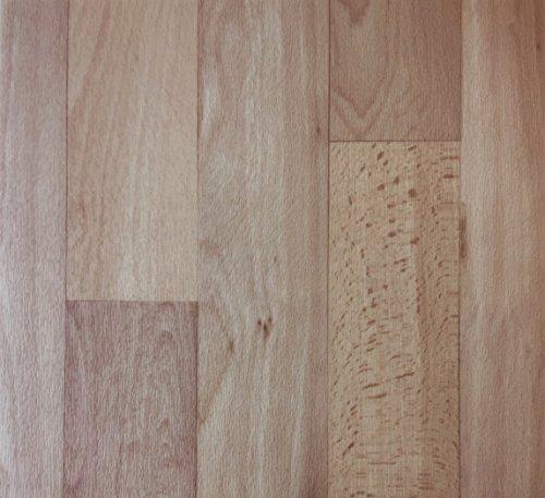 PVC Vinyl-Bodenbelag in hellbrauner Holzoptik | Muster PVC-Belag | CV-Boden wird in benötigter Größe als Meterware geliefert | rutschhemmend