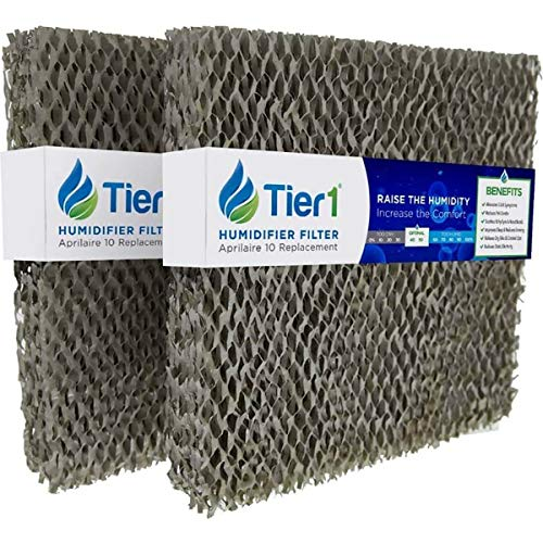 Tier1 Humidifier Filter Replacement for Water Panel 10 Aprilaire Models 110, 220, 500, 550, 558 - Improves Air Quality in Homes and Offices - (2 Pack)