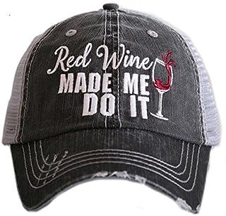 b2bb1c588cbf9 Red Wine Made Me Do It Women s Trucker Hats Caps by Katydid