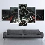 YJJPP Wandkunst HD Drucke Home Decoration 5 Stück Dishonored 2 Game Poster Bild Moderne Leinwand Malerei für Wohnzimmer NO Framework