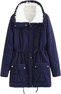 JSYAU Women's Fashion Drawstring Outerwear Sherpa Fleece Anorak Parka Jacket