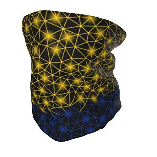 WANZHOU Bufanda Multifuncional/pañuelo en la Cabeza Calentador de Cuello para niños Cara Que agita la Bandera de Colombia Polaina de Cuello Reutilizable Negro