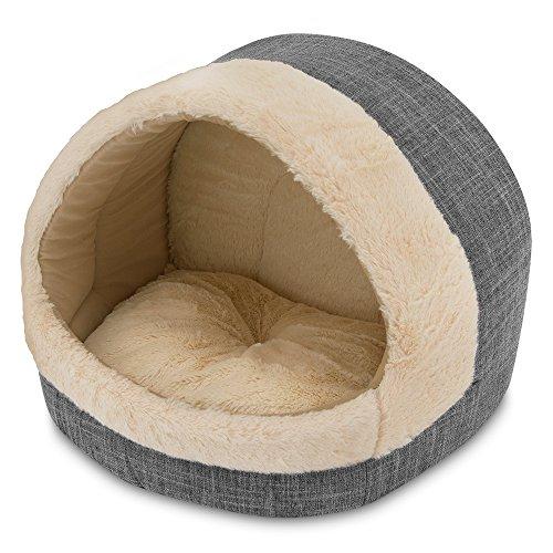 Best Pet Supplies, Inc. Cozy Cat Cave, Inc, Inc, 17'x15'x14, Grey, CR302-GR