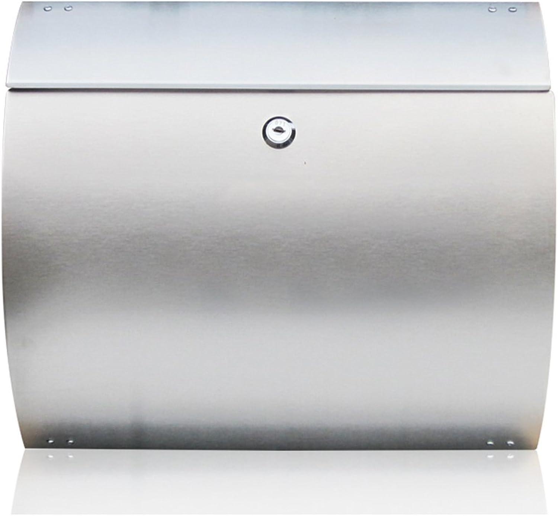 HZB Stainless Steel Mailbox Outdoor Waterproof European Style Villa Hanging Mailbox