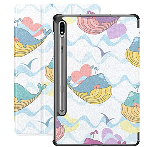 Estuche para Galaxy Tab S7 Estuche Delgado y liviano con Soporte Estuche para Samsung Galaxy Tab S7 Tableta 11 Pulgadas Sm-t870 Sm-t875 Sm-t878 2020 Release, Alegre Gaviota de Aves acuáticas