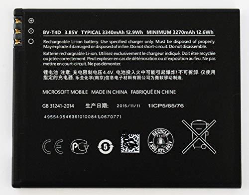 Batteria di ricambio originale per Microsoft Lumia 950 XL, 3340 mAh, BV-T4D