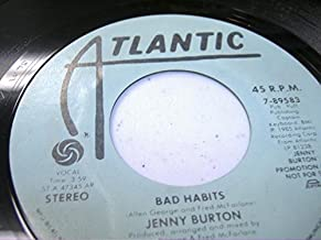 JENNY BURTON 45 RPM Bad Habits / Same