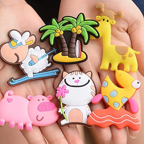 ACHICOO Cartoon-Tier-Kühlschrank-Aufkleber, niedlich, pädagogisch, Spielzeug für Kinder, Zebramuster