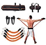 Sunsign Speed and Agility Resistance Bands Trainer for Vertical Jump Squat Boxing MMA Taekwondo Karate Bounce Softball Baseball Basketball Volleyball Football Training Orange
