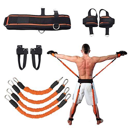 YNXing Widerstandsband-Übungsset für Arme und Beine Training Fitness Bands to Improve Agility, Speed and Fitness - Gym Equipment for Football, Basketball (Orange)