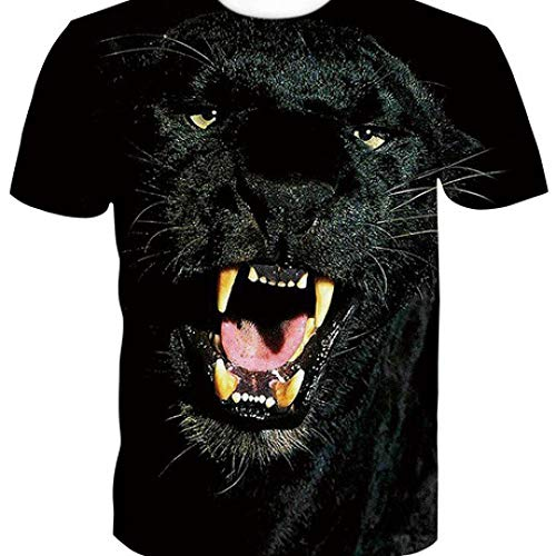 CZPF Mannen Compressie Shirt 3D Zwart Panter Europese en Amerikaanse Trend Digitale afdrukken Short-Sleeved T-Shirt