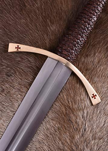 Templer-Schwert mit Scheide Kreuzfahrerschwert Ritter Mittelalter - 4
