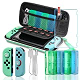 Switch Accessories Bundle, Accessories Kit for Switch, Switch Carry Case, Screen Protector, Joy-Con Covers, 4 Game Holders, 2 Thumb Grips and USB Cable - Animal Crossing New Horizons Edition