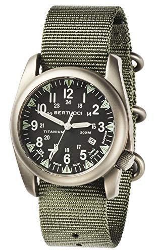 Bertucci A-4T Super Yankee Illuminated Watch - Black - Defender Drab Nylon