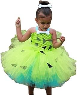 Chunks of Charm Pebble Cave Baby Green Tutu Costume Dress Set from Dot Com