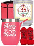 35th Birthday Gifts for Women, 35th Birthday, 35th Birthday Tumbler, 35th Birthday Decorations for Women, Gifts for 35 Year Old Woman, Turning 35 Year Old Birthday Gifts Ideas for Women