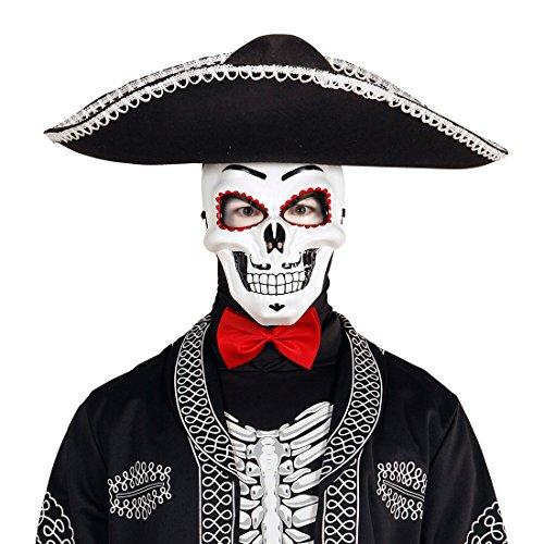 NET TOYS Máscara Esqueleto Sugar Skull Careta La Catrina Antifaz Día de los Muertos...