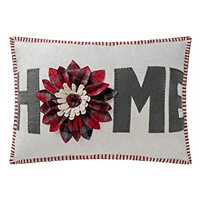 JWH 3D Sunflower Accent Pillow Case Handmade Cushion Cover Decorative Stereo Embroidery Pillowcase Home Bed Living Room Office Chair Couch Decor Sham Gift 14 x 20 Inch