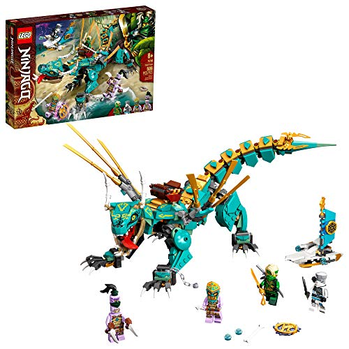LEGO NINJAGO Jungle Dragon 71746 Building Kit; Ninja Playset Featuring Posable Dragon Toy and NINJAGO Lloyd and Zane; Cool Toy for Kids Who Love Imaginative Play, New 2021 (506 Pieces)