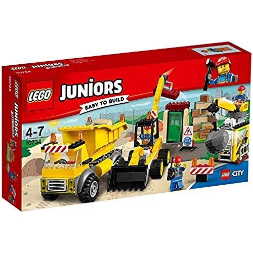 LEGO- Juniors Cantiere di Demolizione Costruzioni Piccole Gioco Bambina, Multicolore, 10734