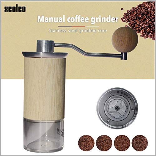 Yzlife Handmatige koffiemolen, draagbare koffiemolen, aluminium kegel, koffiemolen, 57 mm, voor buiten, reizen, slijper
