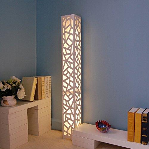 Lámpara de pie Imitación piel de oveja tallada lámpara de pie hueca, lámpara de pared creativa multifuncional, lámpara de pie de la sala de estudio dormitorio, H120cm lámpara de lectura (Color : B)