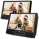 Z-Edge 10,1 Zoll DVD Player Auto Tragbar 2 Bildschirme Dual HD Kopfstütze Monitor, Unterstützt SD/USB AV IN/Out 12V, Inkl. 2 Kopfstützenhalterungen (1 Host +1 Slave)