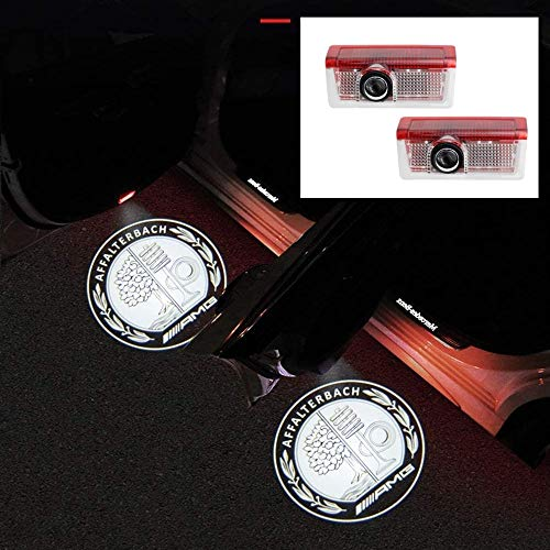 2Pcs Car Door Light Fit for Benz, LED Welcome Light Projector Door Shadow Light Car Ghost Shadow Light For c class w205/s205 c200/c250/c300/c350/amg c43/w213 e260 e300L/glc300/W177 A45/(apple 01)