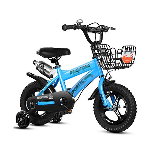 Bicicleta Niños AGYH Bicicleta Infantil, 12 Pulgadas, 14 Pulgadas, 16 Pulgadas, 18 Pulgadas, La Altura del Mango De Asiento Ajustable, Triciclo con Ruedas Auxiliares, Cuatro Colores Disponibles