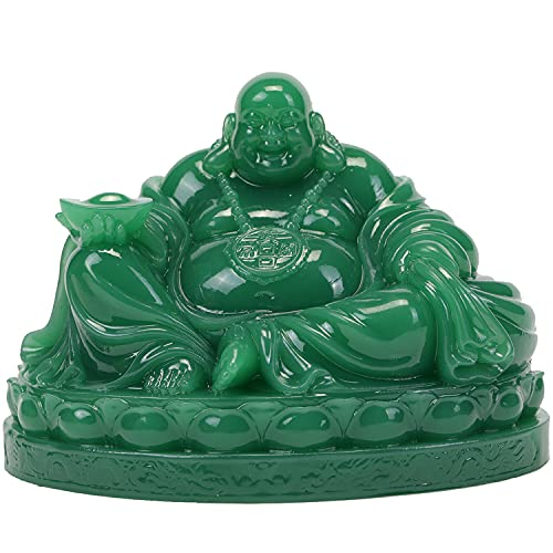 Seyee-bro Fengshui Laughing Buddha Statue - Happy Buddha Sculptures for Good Luck Wealth and Happiness Home Decor Congratulatory Gifts