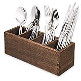 4 Adjustable Smart Compartments Kitchen Utensil Holder, Cutlery Trays, Silverware Storage Kitchen Utensil Flatware Caddy
