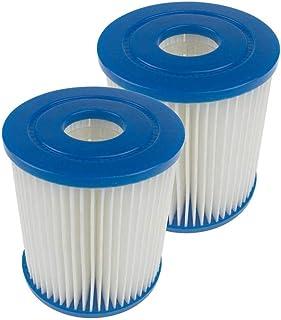 WKTRSM Cartuchos Filtros para Piscinas Tipo I Cartucho de Filtración para Piscina Filtro de Repuesto Accesorios de Bombas Piscinas, 2 Piezas