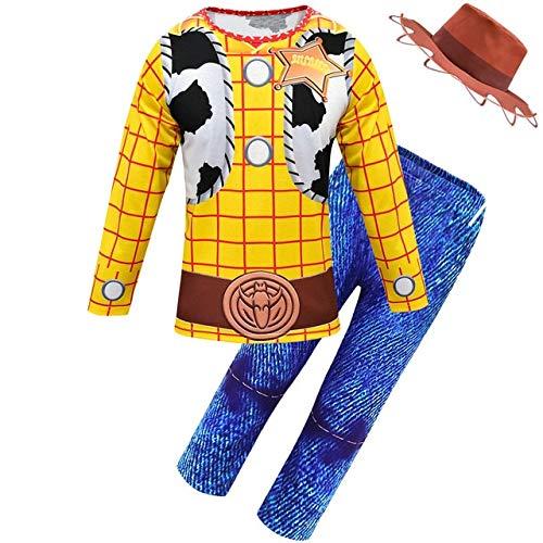 BCOGG 2019 Halloween Toy Story Niños Disfraz de Woody Niño