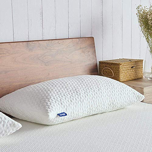 Sweetnight Pillows for Sleeping-Shredded Gel Memory Foam Pillow with Removable Cooling Cover, Adjustable Loft & Neck Pain Relief Standard Pillows for Side/Back/Stomach Sleepers, CertiPUR-US Certified