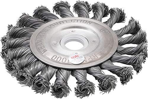 BGS 3985 | Scheibenbürste / Zopfrundbürste | Ø 115 mm | Bohrung 22,2 mm