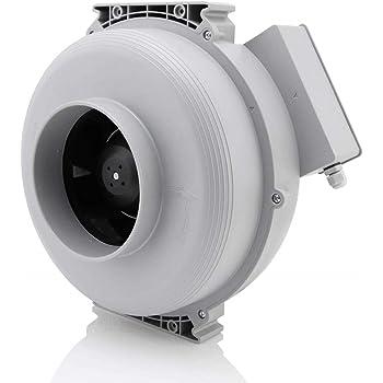 Hon&Guan Extractor de Aire Silencioso 100mm - 255m³/h Ventilador ...