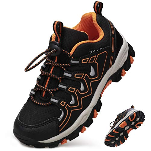 UOVO Boys Shoes Boys Tennis Running Sneakers Waterproof Hiking Shoes Kids Outdoor Fashion Sneakers Slip Resistant (Big/Little Boys)