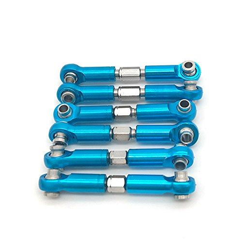GEZICHTA 6 Pz Regolabile Metallo Linkage Tirare Rod Anteriore/Posteriore Servo Link per Wltoys A949 A959 A969 A979 K929 RC Auto Aggiornamento Ricambi Accessori
