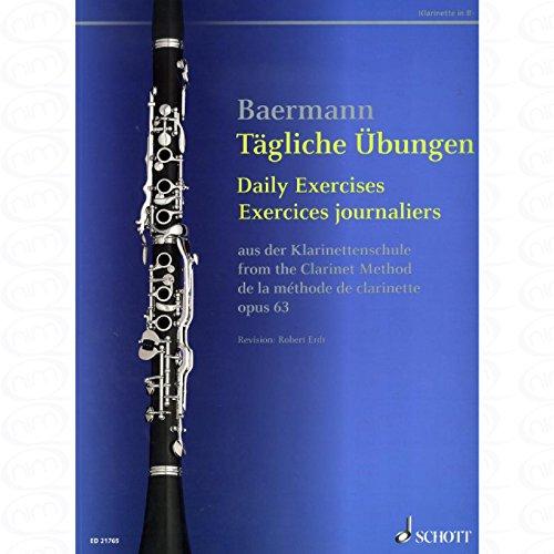 TAEGLICHE UEBUNGEN - arrangiert für Klarinette [Noten/Sheetmusic] Komponist : Baermann Carl