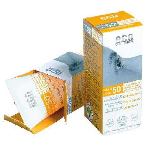 Eco Cosmetics Crème solaire indice 50+ très haute protection 75ml légèrement teintée