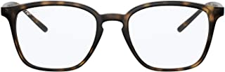 Ray-Ban Rx7185f Asian Fit Square Sunglasses