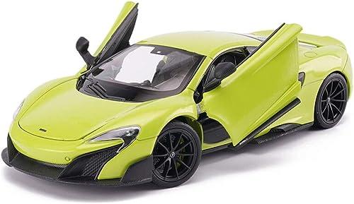 Modellauto McLaren 675LT Supersportwagen Simulation Legierung Auto Spielzeug Modell 1 24 Sammlung Ornamente Statisches Modell ( Farbe   Grün )
